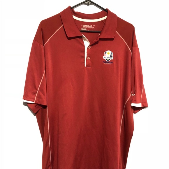 newest 4c6ce 7f07d Nike Golf Dri Fit XXL Ryder Cup Red Polo Shirt